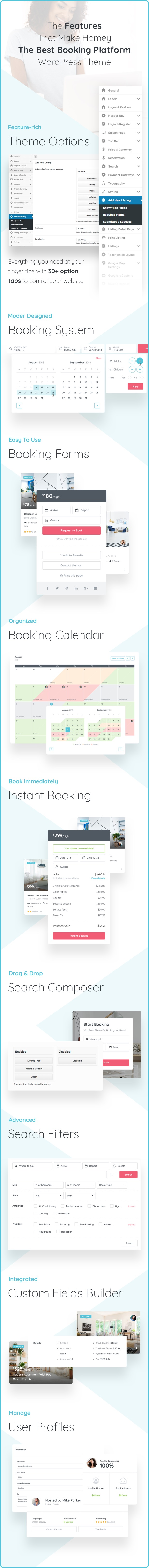 Homey - Booking and Rentals WordPress Theme - 7  Download Homey – Booking and Rentals WordPress Theme nulled features