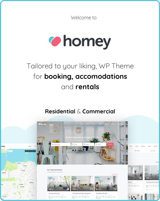 Homey - Booking and Rentals WordPress Theme - 4  Download Homey – Booking and Rentals WordPress Theme nulled intro