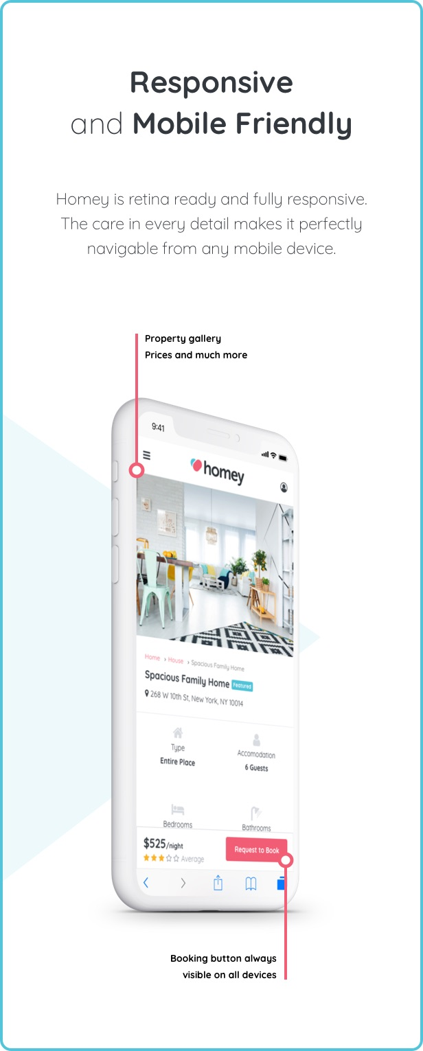 Homey - Booking and Rentals WordPress Theme - 11  Download Homey – Booking and Rentals WordPress Theme nulled mobile