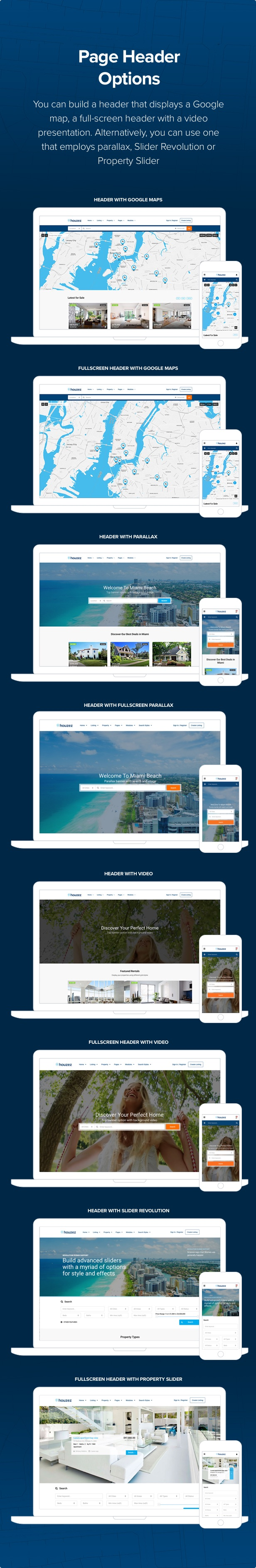 houzez header options 1 6 3 - Houzez – Real Estate WordPress Theme