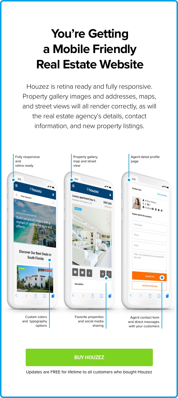 houzez mobile 1 6 3 - Houzez – Real Estate WordPress Theme